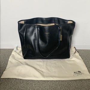 Coach Large Cross Stitch Leather Tote